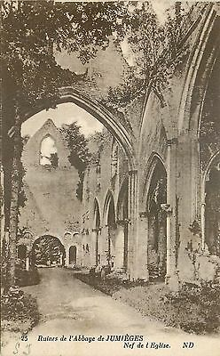 76 Ruines Abbaye Jumieges Nef Eglise Nd