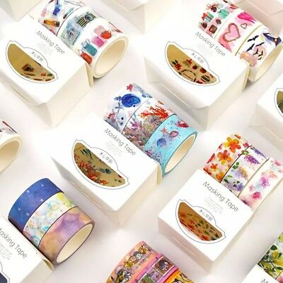3Rolls Washi Tape Sticky Paper Masking Tape DIY Craft Decor Scrapbooking Sticker