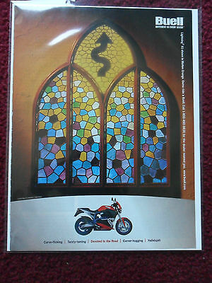 2000 Print Ad BUELL Lightning X1 Motorcycle STAINED GLASS WINDOW