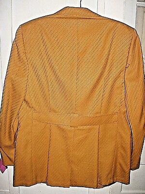 VINTAGE 1970sGOLD STRIPE BELTED NORFOLK  SPORT COAT/JACKET-MORTANS AMSTERDAM, NY