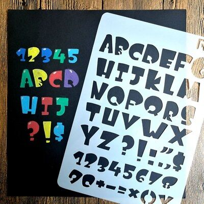 12Type Letter Alphabet Number Layering Stencils Painting Scrapbooking Paper