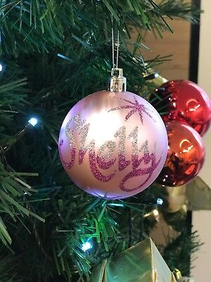 Personalised Christmas Baubles - Hand Written