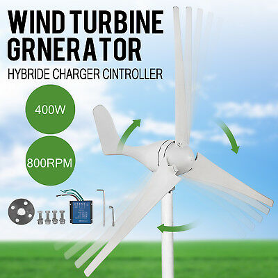 400W Wind Turbine Generator Kit DC 12V Charger Controller Home Power
