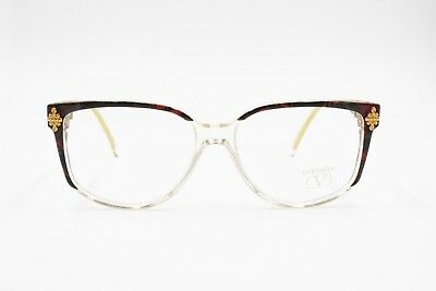 VALENTINO Vintage 1970s eyeglass frame women, Adorned frontal hot tones, NOS