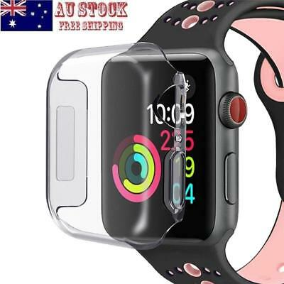 Clear TPU Screen Protector Case For Apple Watch Series 4 iWatch 40/44mm AU