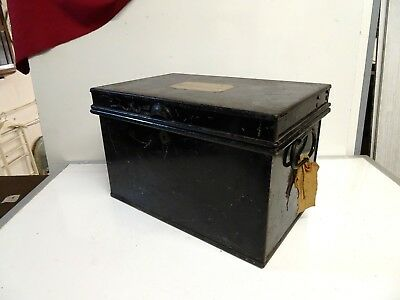 Vintage Chatwood Strong Box/ Deed Box (no key)