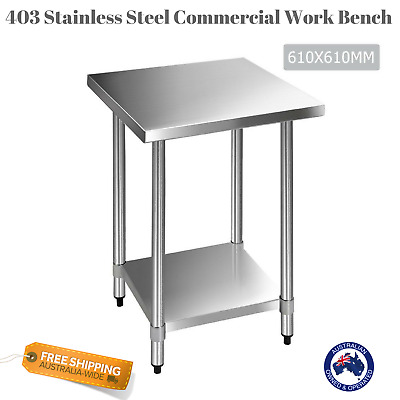 NEW Commercial Work Bench 430 Stainless Steel Table Kitchen Home Adjust Height