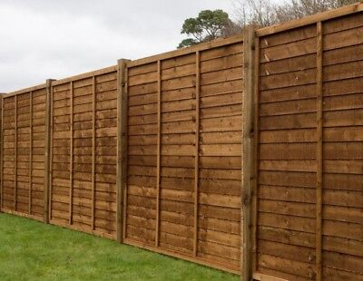 Wooden Garden Lap Fence Panels Overlap Timber Fencing Panel 4ft / 5ft / 6ft
