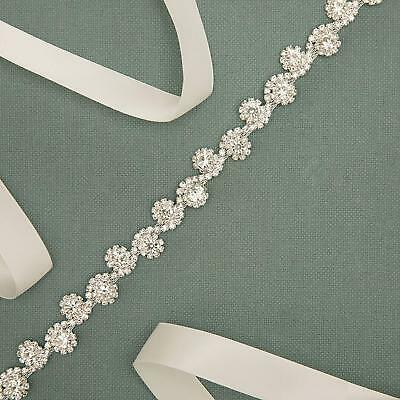 Round Crystals Trim Bridal Sash Bridesmaid Belt Rhinestone Wedding Belt Headband