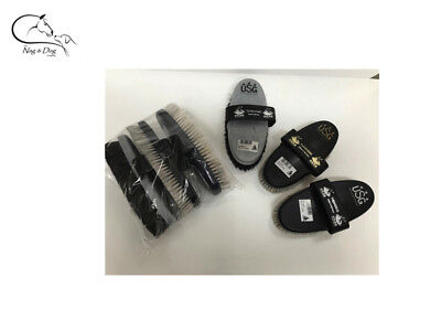 Haas Grooming Brushes Pack Schimmel/Fellglanz/Cavaliere Horse Pony FREE DELIVERY