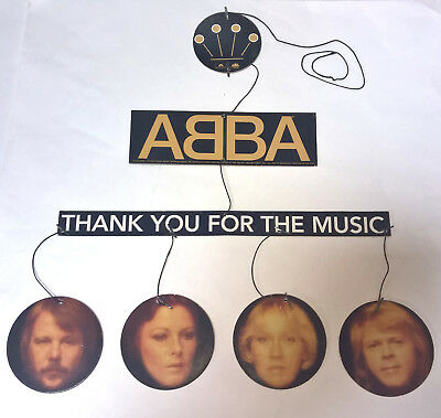 ABBA Rare PROMO In-Store HANGING MOBILE DISPLAY - Thank You For The Music - 1994