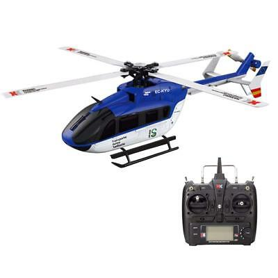 New XK K124 6CH RC Helicopter Four Blades RTF Brushless With EC145 3D6G System