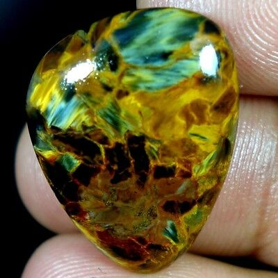21.60Cts. 100% Natural Flamboyant Golden Pietersite Fancy Cabochon A+ Gemstones