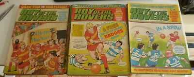 21 x Roy of the Rovers comics 1st January - 25th June 1983