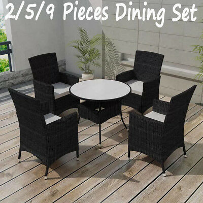 Excellent Garden Dining Set 2 5 9 Pieces Poly Rattan Outdoor Table Cjindustries Chair Design For Home Cjindustriesco