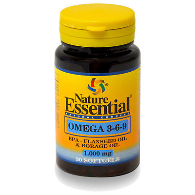 OMEGA 3 6 9 1000 mg. 30, 60, 90 o 150 Perlas - NATURE ESSENTIAL