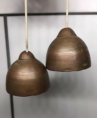 Antique Or Vintage Double Brass Bells  Heavy Brass / Without Clappers, Rare