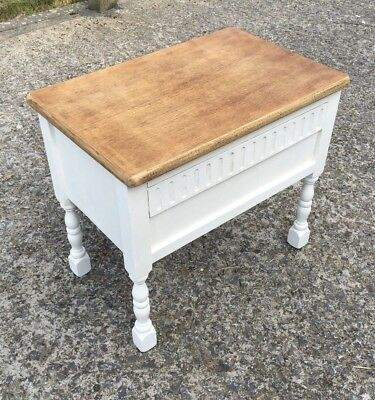 Sewing Box Bedside Hall Coffee Table Hand Painted & Waxed Old Charm Shabby Chic