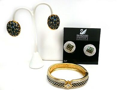 Swarovski Jeweler's Collection Crystal Colorful Bracelet and Earrings NOS