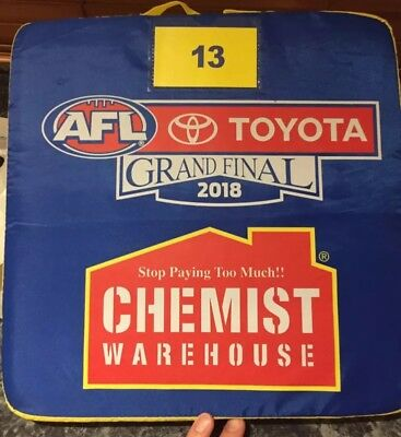 Afl Grand Final 2018 Seat Cushion 13 Luke Shuey Norm Smith Medalist Premiers