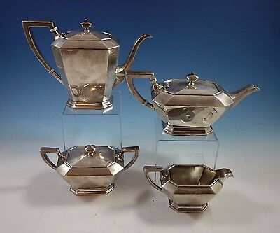 Fairfax by Durgin-Gorham Sterling Silver Tea Set 4pc #04 (#1641) Fabulous