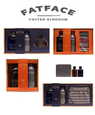 Fat Face Gift Set Mens Fathers Day Birthday Present  Shower Gel Spray Tool Set