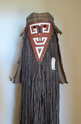 Magnificent full length mask from W. Apalay tribe, Para, Brazil