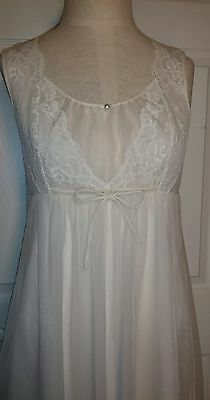 "Vintage Cream Ivory Shadowline Babydoll Nightie size Small 33"" Bust Bridal 60s"