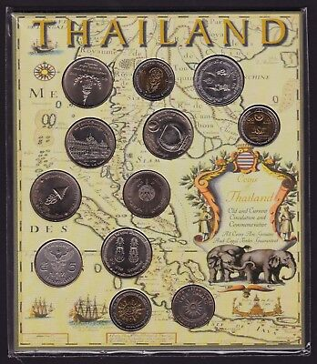 Thailand Commemorative & Circulation Coins Old & New 1966 to 2003 mostly 10 Baht