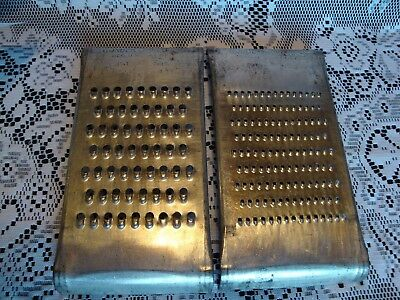 "Vintage~""the Wonder Shredder""~Pair Metal Graters~Shredders~Fine~Medium~Over Bowl"