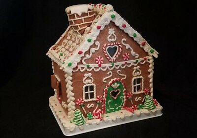 Illuminated Christams Love Gingerbread Home by Valerie