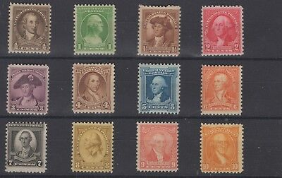 1932 United States SC#'s 704-715 Complete Set Never Hinged