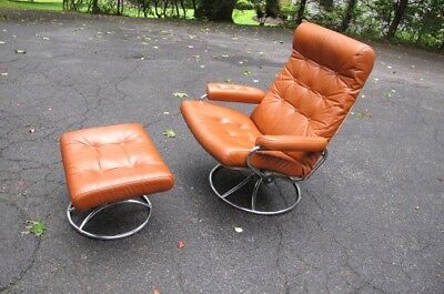 Magnificent Vintage Ekornes Mid Century Modern Stressless Recliner Creativecarmelina Interior Chair Design Creativecarmelinacom