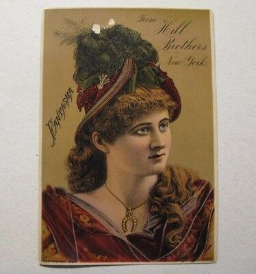 *original 1885 World'S Fair – New Orleans Hill Brothers Millinery / Hats Card*
