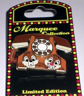Chip & Dale Telephone Phone Marquee Disney Pin LE 1500 WDW New on Card