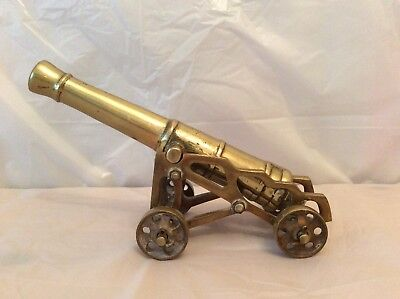 Vintage Brass Table Top Cannon