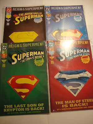 DC COMICS REIGN OF THE SUPERMAN 4 COMICS (june 1993)