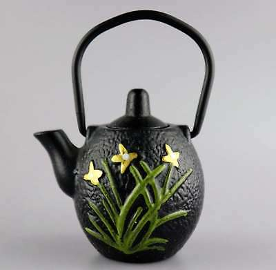 Collectable China Copper Carving Orchid & Plum Blossom Delicate Tea Set Teapot