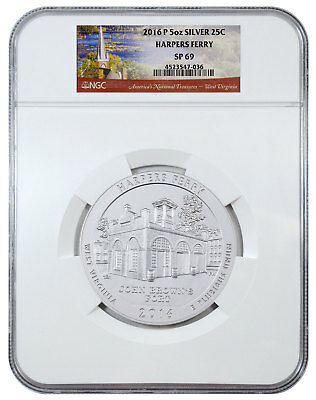 2016-P Harpers Ferry NP 5 oz. Silver ATB America the Beautiful NGC SP69 SKU45460