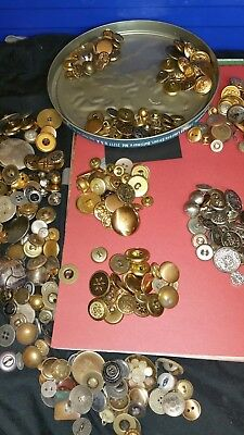50 vintage old metal buttons lot sewing collectable scrapbooking self shank  new