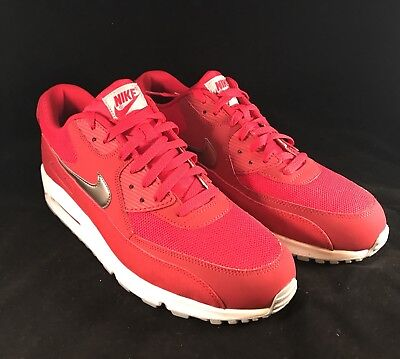 cheap for discount 72dbb cc4f7 New Nike Air Max 90 Essential Gym Red Silver 537384-602 Mens Size 12.5 Shoes