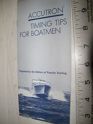 vintage accutron timing tips for batmen, pamphlet, accutron watches