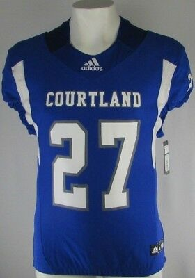 Men's TechFit adidas Authentic Blue Jersey Courtland Football XL 2XL 3XL