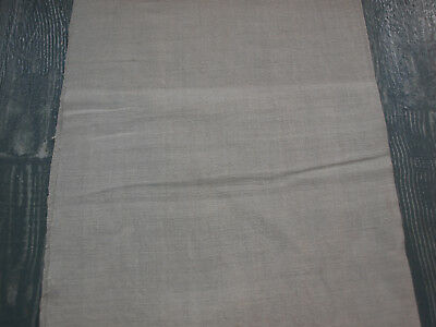 1 YARDS Antique Linen Organic Natural Flax Handwoven Homespun Old Fabric
