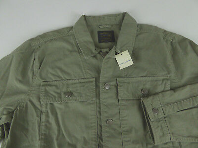 Lucky Brand Military Shirt Jacket $199 Coat Embroidered Tiger Fighter Lover NWT
