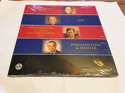 2015 Presidential Dollars - US Mint 6 Coin P&D Uncirculated Set
