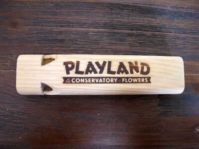 PLAYLAND at the Conservatory of Flowers Wooden Whistle - San Francisco