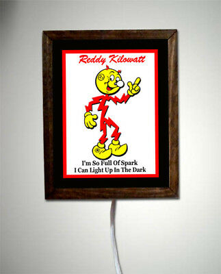 Reddy Kilowatt Electrician Utility  Electrician Retro Vintage Light Lighted Sign