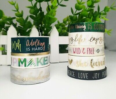 Washi Tape Metallic Printed words 5m MT185