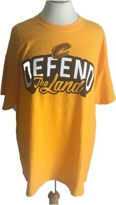 ab56780df Cleveland Cavaliers Size XL Yellow Defend The Land 2017 Playoff T-Shirt Cavs